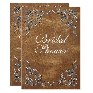 Cartão Chá de panela ocidental sofisticado
