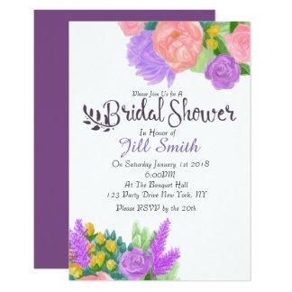 Cartão Chá de panela rústico da flor