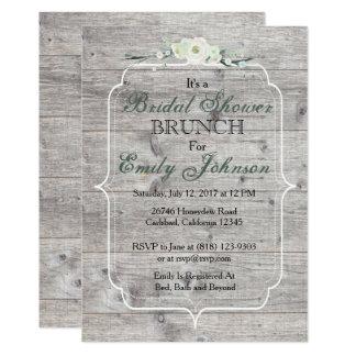 Cartão Chá de panela rústico de madeira cinzento
