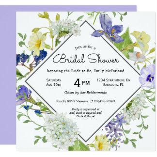 Cartão Chá de panela rústico dos Wildflowers do jardim