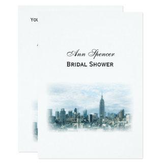 Cartão Chá de panela sonhador da skyline da cerceta NYC V