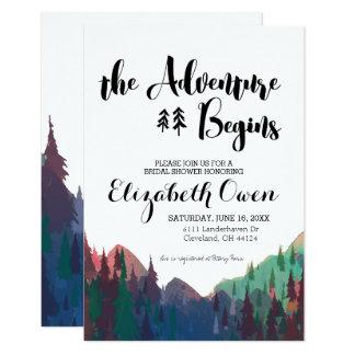 Cartão Chá de panela - tema da montanha