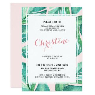 Cartão Chá de panela tropical das folhas de palmeira