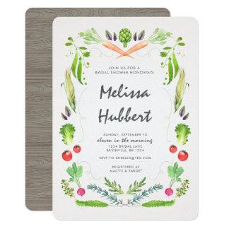 Cartão Chá de panela vegetal da grinalda