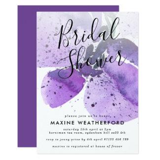 Cartão Chá de panela violeta da orquídea da aguarela