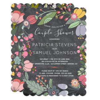 Cartão Chá do casal da grinalda do prado dos wildflowers