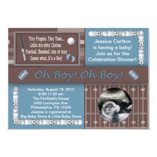 Cartão Chá dos esportes do bebé