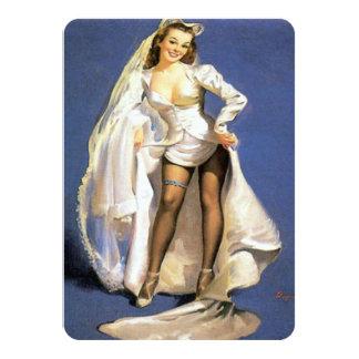 Cartão Chá engraçado da lingerie da noiva do pinup