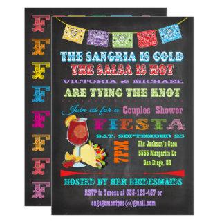 Cartão Chá mexicano dos casais do Sangria da festa do