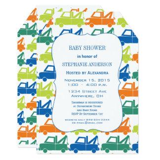 Cartão Chá moderno do caminhão de reboque do bebé