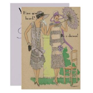 Cartão Chá parisiense da forma do Flapper do primavera