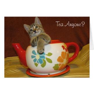 Cartão Chá qualquer um