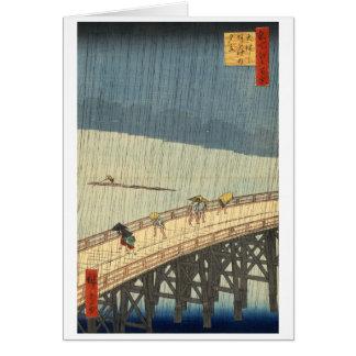 Cartão Chá repentino sobre a ponte e o Atake de