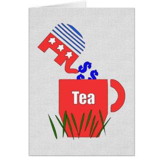 Cartão Chá republicano