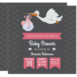 Cartão Chá retro feminino bonito do bebé personalizado