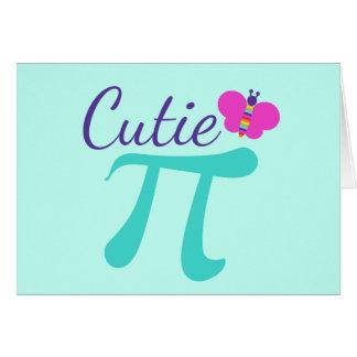 Cartão Chalaça da matemática do símbolo de Cutie Pi