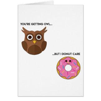 Cartão Chalaça da rosquinha da coruja