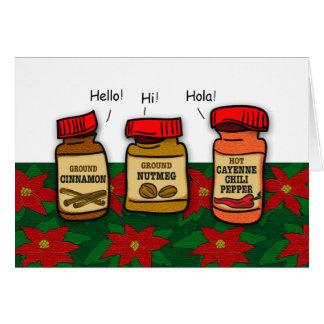 Cartão Chalaça engraçada do feriado dos cumprimentos do
