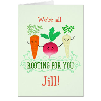 Cartão Chalaça positiva da raiz - enraizando para você