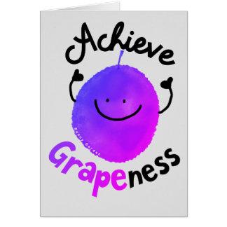 Cartão Chalaça positiva da uva - consiga Grapeness