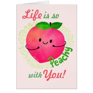 Cartão Chalaça positiva do pêssego - Peachy