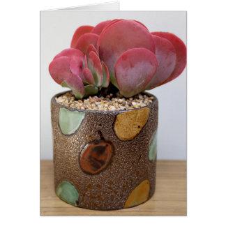 Cartão Chama da cor Notecard - a planta perfeita