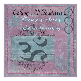 Cartão Chamando todas as deusas