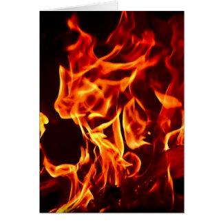 Cartão Chamas do fogo