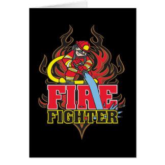 Cartão Chamas do sapador-bombeiro