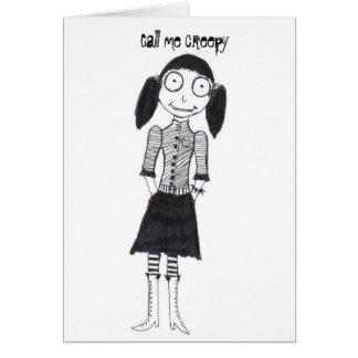 Cartão Chame-me assustador