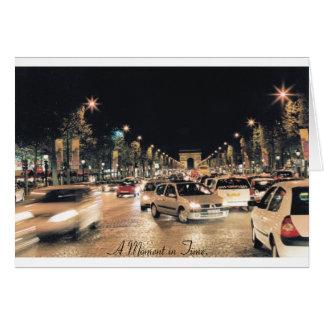 Cartão Champs Elysées de Les.  Paris.  (Um momento a