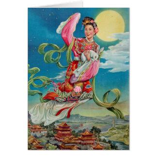 Cartão Chang'e que voa à lua