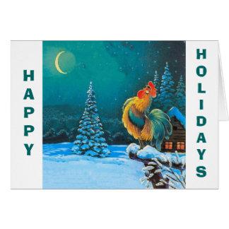 Cartão chanticleer, boas festas