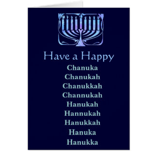 Cartão Chanuka feliz