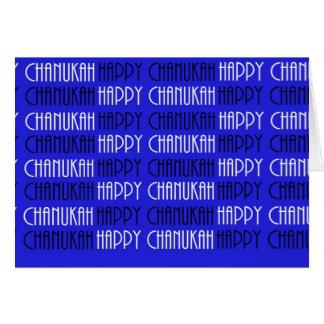 Cartão Chanukah feliz feliz