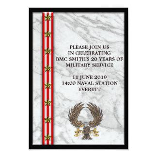 Cartão Chapa militar de Mable da aposentadoria