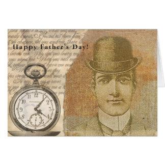 Cartão Chapéu de jogador feliz do cavalheiro de Steampunk