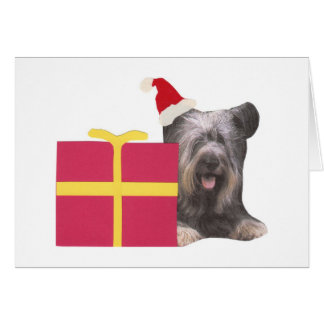 Cartão Chapéu do papai noel de Skye Terrier