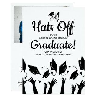 Cartão Chapéus da graduação do arquiteto fora do partido