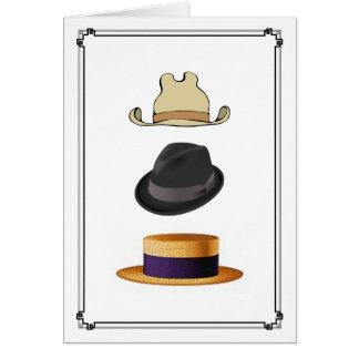 Cartão Chapéus dos homens do barqueiro de Fedora do