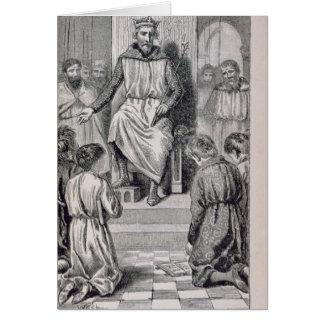 Cartão Charlemagne e os meninos