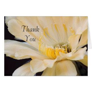 Cartão Charlemagne Echinopsis no obrigado da flor você