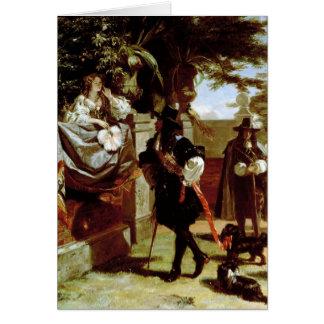 Cartão Charles II e Nell Gwynne
