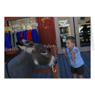 Cartão Charlie e o burro do Natal