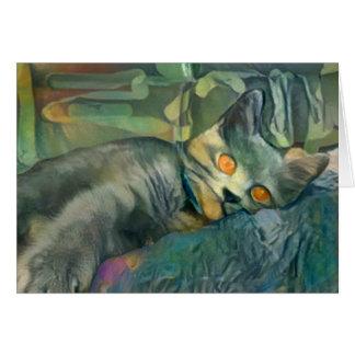 Cartão Chartreux sonolento