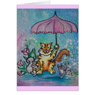 Cartão Chás de abril
