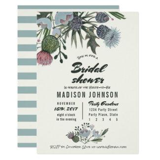 Cartão Chás de panela azuis pálido das flores selvagens |