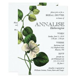 Cartão Chás de panela chiques botânicos do vintage
