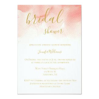 Cartão Chás de panela da aguarela do rosa & do ouro
