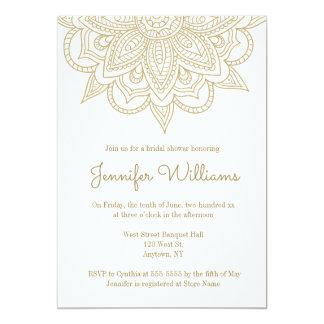 Cartão Chás de panela da mandala do ouro